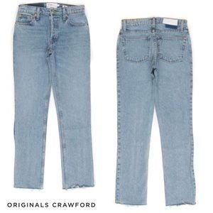 Re/Done Jeans - RE/DONE Originals Crawford Rigid Raw Hem Jeans NWT